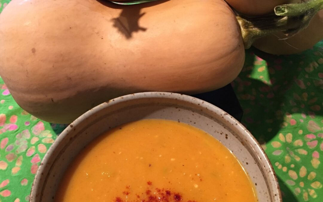 Butternut Squash Apple Ginger Soup