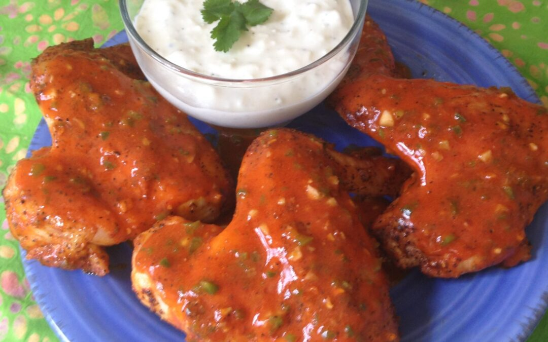 Garlic & Jalapeno Hot Wings