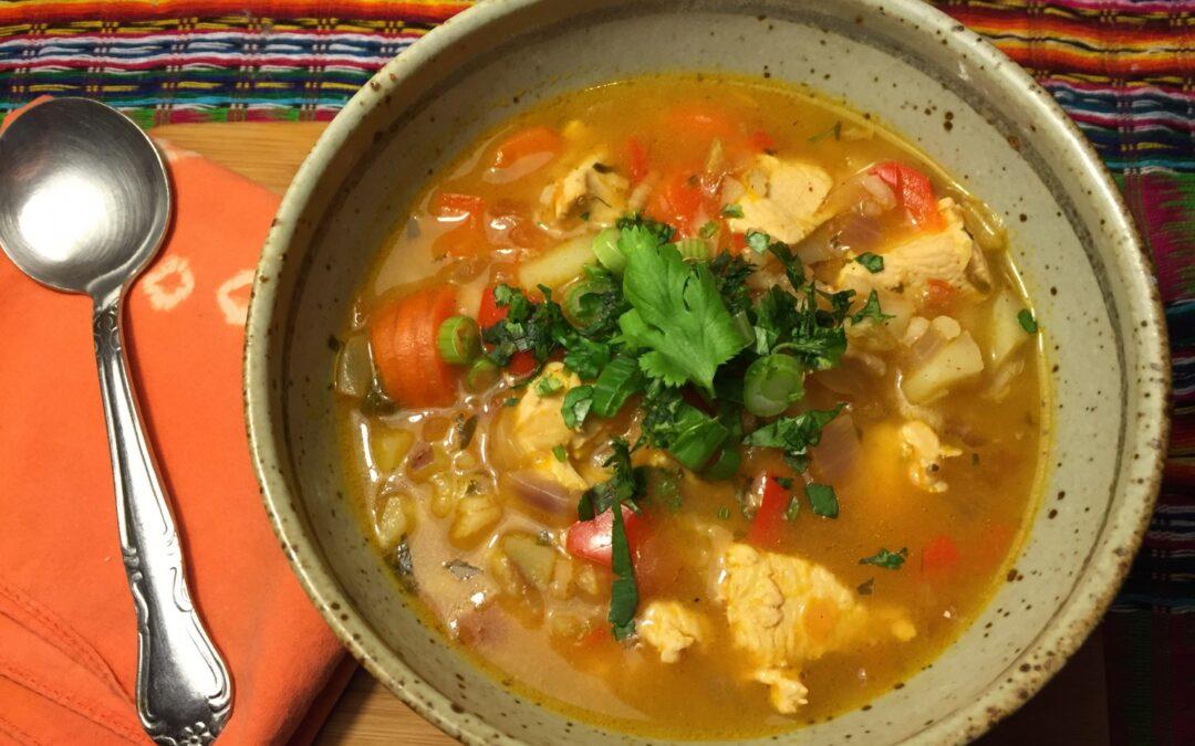Aguado de Gallina (Chicken and Rice Soup)